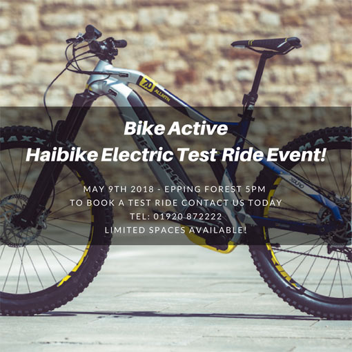 Haibike demo ride - 9th May Epping Forest