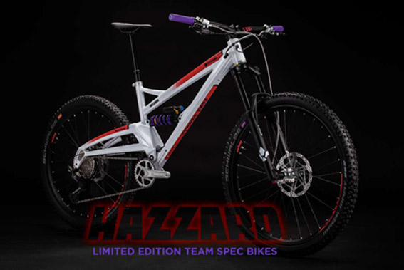 Limited Edition Orange Hazzard Bikes